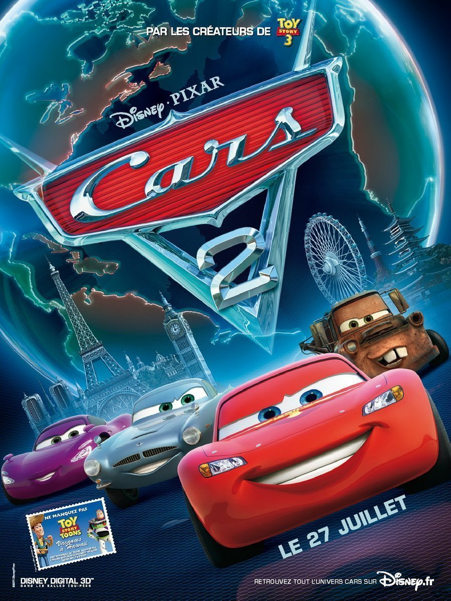 critique test blu ray cars 2 flash mcqueen is back. Black Bedroom Furniture Sets. Home Design Ideas