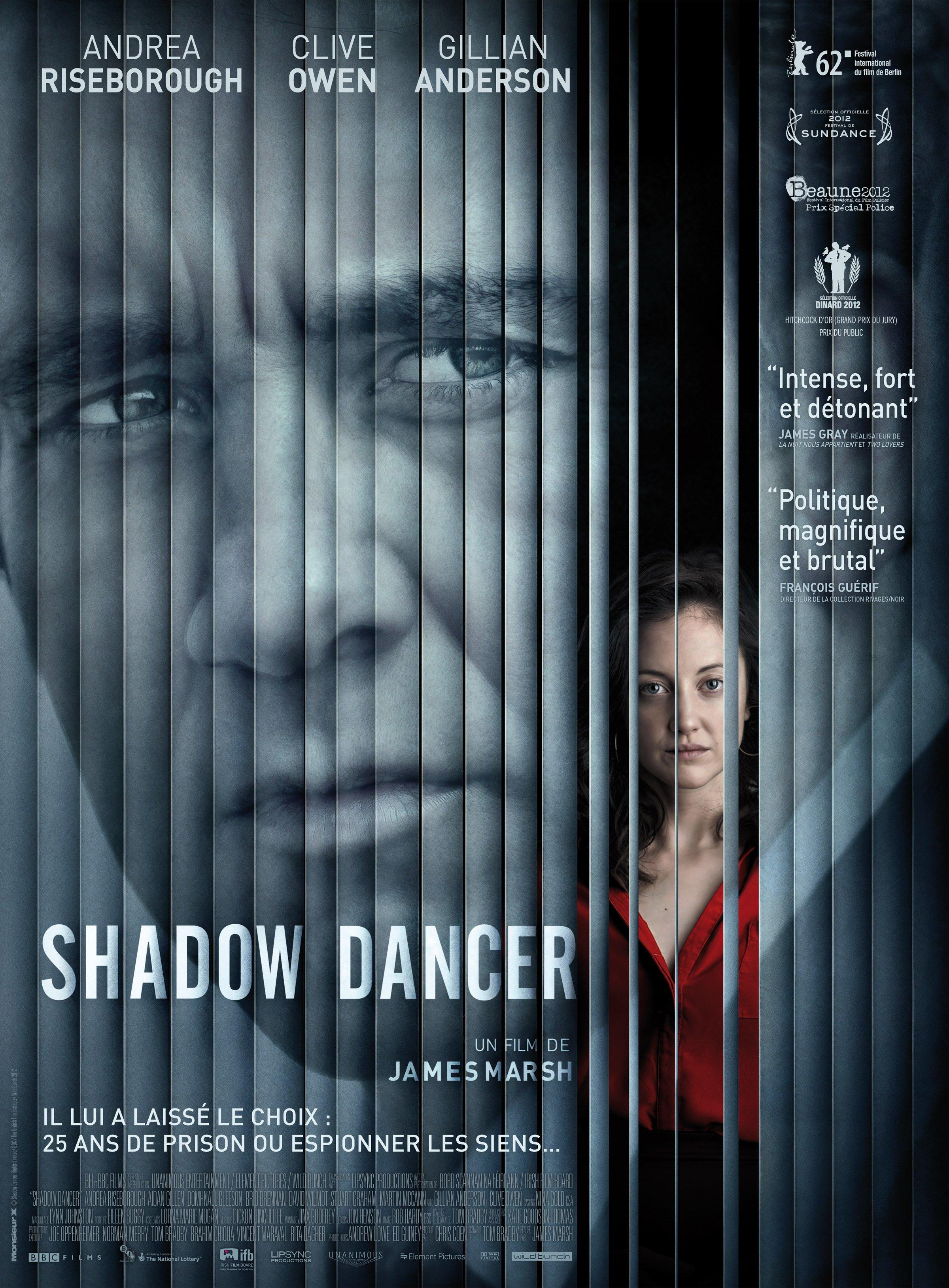 Affiche française du film Shadow Dancer avec Clive Owen et Andrea Riseborough