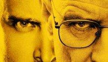 Poster de la série Breaking Bad créée par Vince Gilligan avec Bryan Cranston (Walter White) et Aaron Paul (Jesse Pinkman)