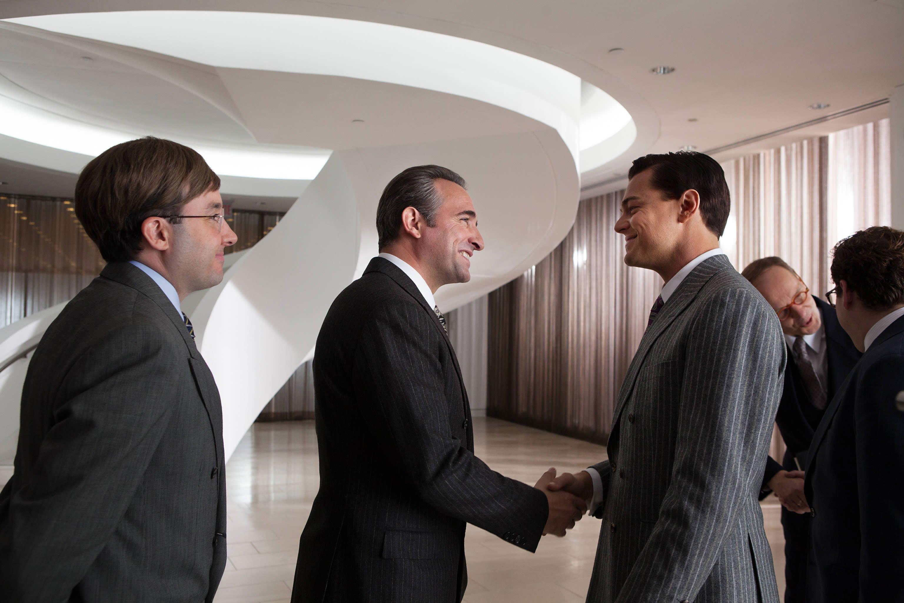 Le Loup de Wall Street avec Jean Dujardin et Leonardo DiCaprio