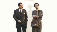 ffiche du film Dans l'ombre de Mary - La promesse de Walt Disney réalisé par John Lee Hancock en 2013 avec Tom Hanks et Emma Thompson