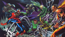 Image des Sinister Six contre Spider-Man