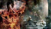 Bannière géante pour Le Hobbit 3: la Bataille des Cinq Armées