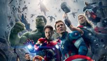 Affiche du film Avengers: l'Ère d'Ultron écrit et réalisé par Joss Whedon avec Robert Downey Jr., Chris Evans, Chris Hemsworth, Mark Ruffalo, Scarlett Johansson, Jeremy Renner, Aaron Taylor-Johnson, Elizabeth Olsen, Paul Bettany, James Spader et Nick Fury