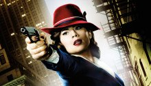 Poster sans texte de la première saison de la série Agent Carter diffusée sur ABC avec Hayley Atwell