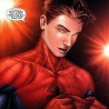 Image du comic Civil War avec Peter Parker