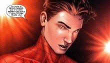 Image du comic Civil War avec Peter Parker