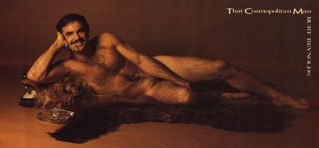 Photo de Burt Reynolds nu pour Cosmopolitan