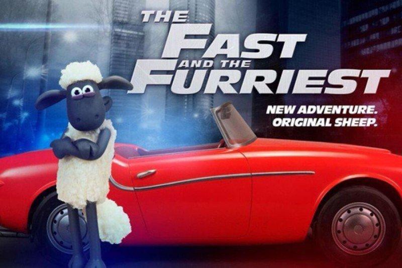 poster parodie shaun le mouton le film fast furious. Black Bedroom Furniture Sets. Home Design Ideas