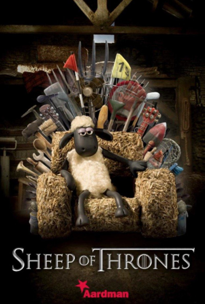 poster parodie shaun le mouton le film game of thrones. Black Bedroom Furniture Sets. Home Design Ideas