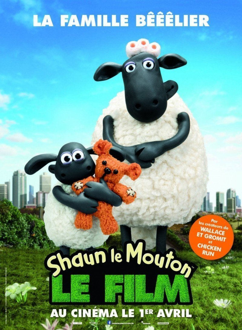 poster parodie shaun le mouton le film la famille b lier. Black Bedroom Furniture Sets. Home Design Ideas