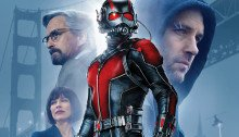 Affiche française du film Ant-Man réalisé par Peyton Reed, d'après un scénario d'Adam McKay et Paul Rudd, avec Paul Rudd, Michael Douglas, Evangeline Lilly et Corey Stoll