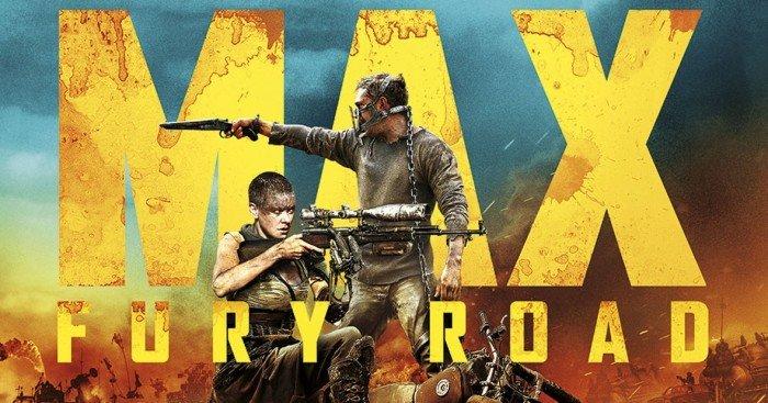 Affiche du film Mad Max: Fury Road réalisé par George Miller, d'après un scénario de Nick Lathouris, Brendan McCarthy et George Miller, avec Tom Hardy, Charlize Theron,
