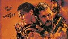 Poster rétro du film Mad Max: Fury Road réalisé par George Miller, d'après un scénario de Nick Lathouris, Brendan McCarthy et George Miller, avec Tom Hardy, Charlize Theron,