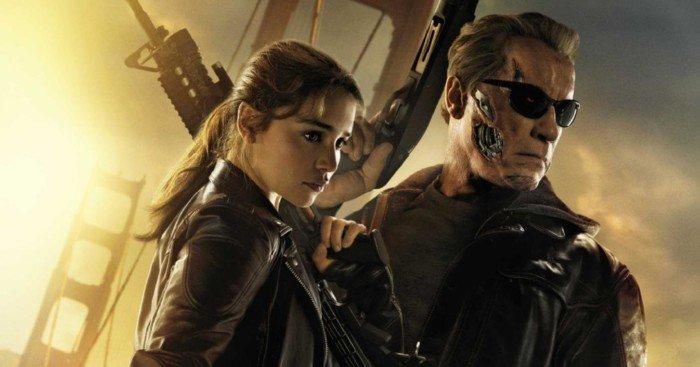 Poster du film Terminator: Genisys réalisé par Alan Taylor avec Emilia Clarke et Arnold Schwarzenegger