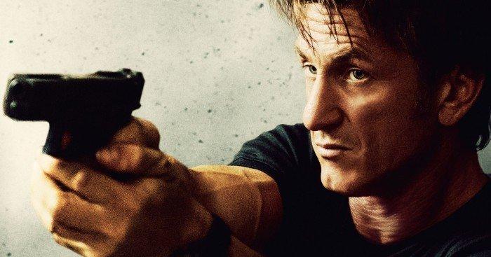Affiche française du film Gunman réalisé par Pierre Morel avec Sean Penn