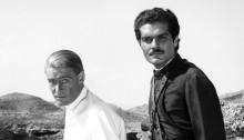 Peter O'Toole et Omar Sharif sur le tournage de Lawrence d'Arabie