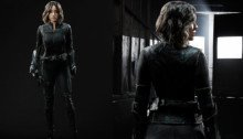 Photo du costume de Quake (devant et derrière) dans la saison 3 de Les Agents du SHIELD