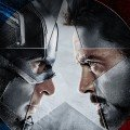 Poster teaser du film Captain America: Civil War réalisé par Anthony et Joe Russo, d'après un scénario de Christopher Markus et Stephen McFeely, avec Chris Evans (Steve Rogers / Captain America) et Robert Downey Jr. (Tony Stark / Iron Man)