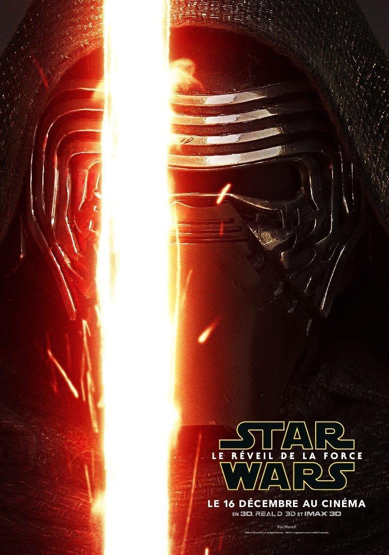 Affiche de Kylo Ren pour Star Wars: Episode VII – Le Réveil de la Force avec Kylo Ren
