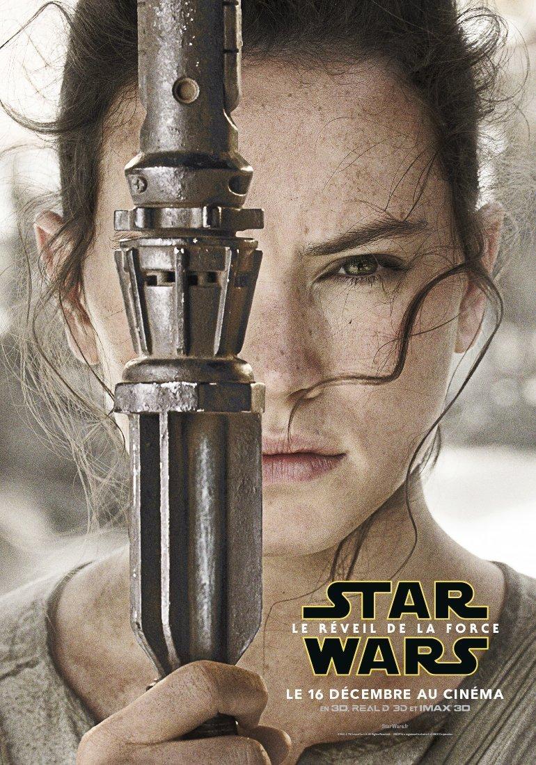 Affiche de Rey pour Star Wars: Episode VII – Le Réveil de la Force avec Rey
