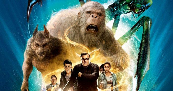 Affiche française du film Chair de poule réalisé par Rob Letterman avec Dylan Minnette, Jack Black, Odeya Rush, Ryan Lee, Amy Ryan et Jillian Bell