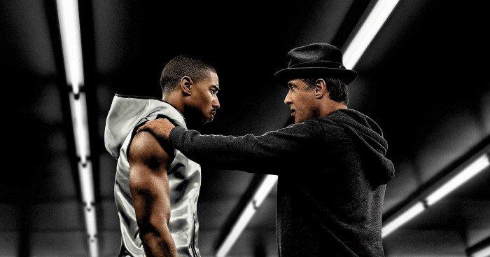 Affiche française du film Creed: L'Héritage de Rocky Balboa réalisé par Ryan Coogler avec Michael B. Jordan et Sylvester Stallone