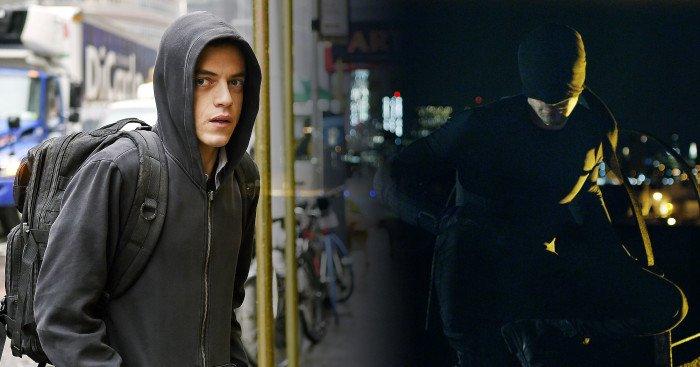 Image fusionnant Mr Robot et Daredevil