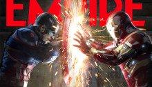 Couverture du magazine Empire avec Captain America: Civil War