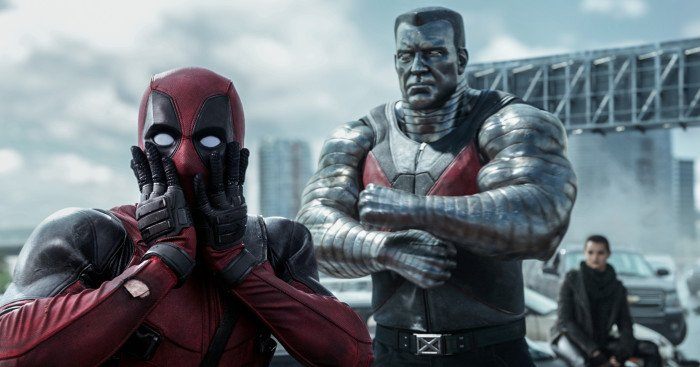 Photo du film Deadpool avec Deadpool et Colossus