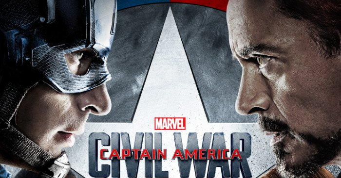 Affiche française officielle du film Captain America: Civil War réalisé par Anthony et Joe Russo