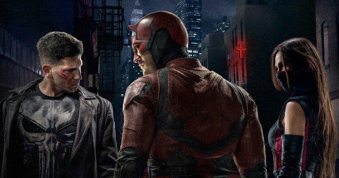 Poster de la saison 2 de Daredevil par Doug Petrie et Marco Ramirez avec Charlie Cox, Jon Bernthal et Elodie Yung
