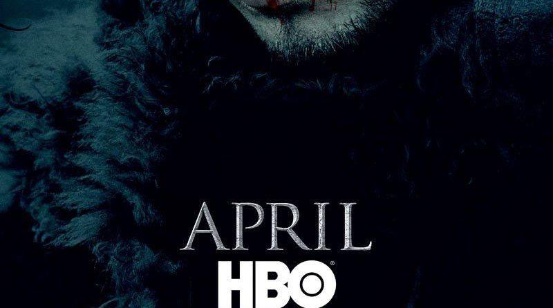 Poster teaser de la saison 6 de Game of Thrones, série créée par David Benioff et D. B. Weiss, avec Jon Snow