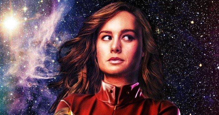 Poster d'un fan avec Brie Larson en Captain Marvel