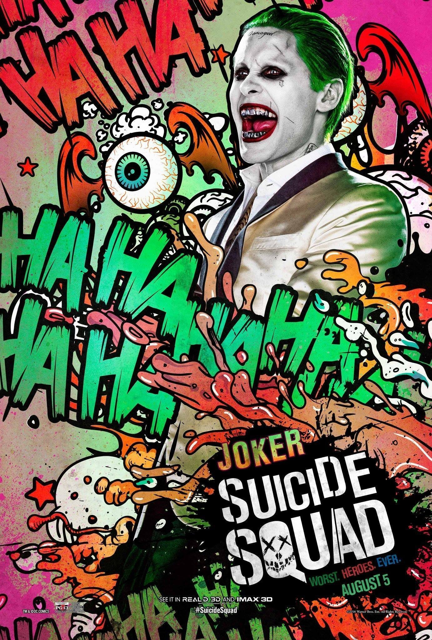 poster suicide squad joker. Black Bedroom Furniture Sets. Home Design Ideas