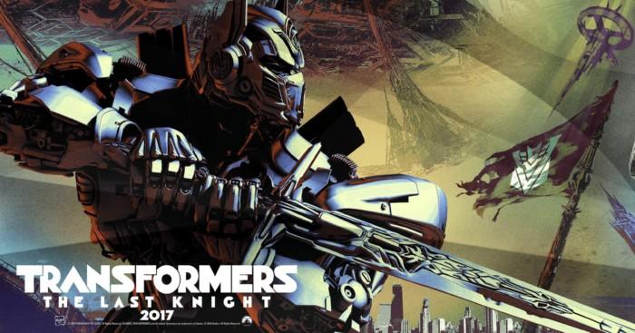 Bannière de Transformers: The Last Knight avec Optimus Prime