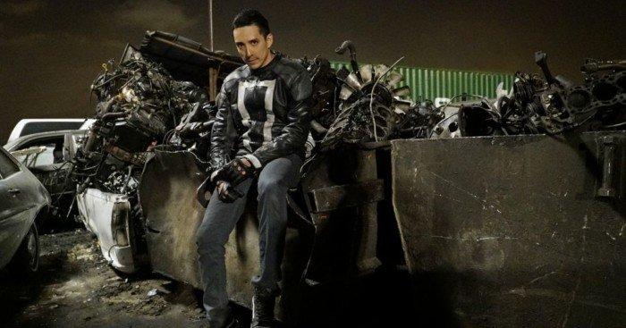 Photo de Gabriel Luna dans le rôle de Robbie Reyes alias Ghost Rider pour la saison 4 d'Agents of SHIELD