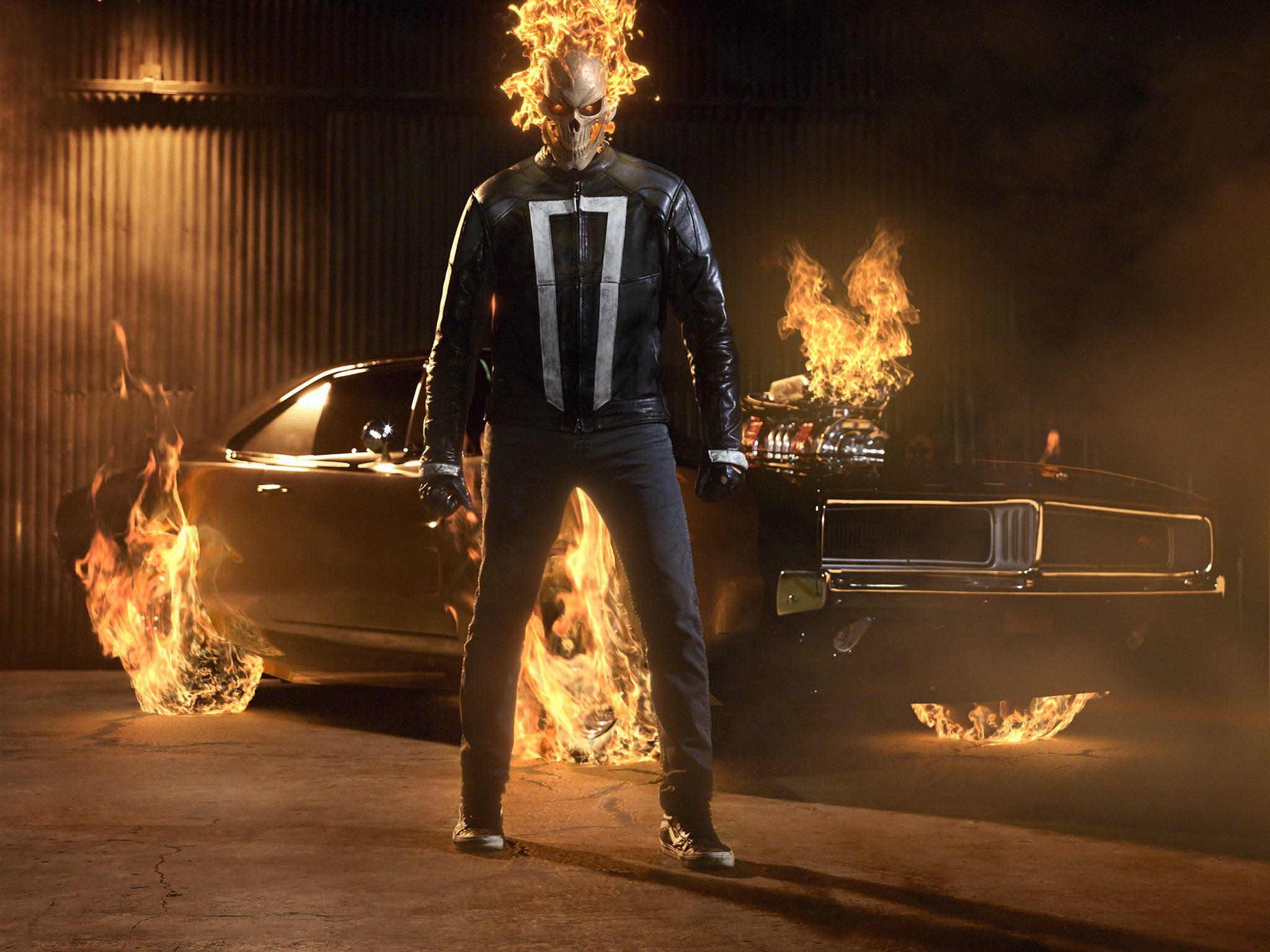 Photo du Ghost Rider pour la saison 4 d'Agents of SHIELD