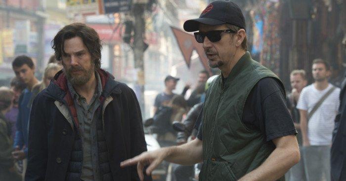 Photo du tournage de Doctor Strange avec Scott Derrickson et Benedict Cumberbatch