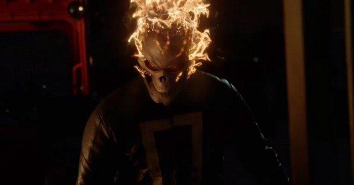 Photo du Ghost Rider dans le premier épisode de la saison 4 d'Agents of SHIELD