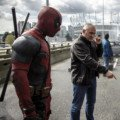 Photo du tournage de Deadpool avec Ryan Reynolds et Tim Miller