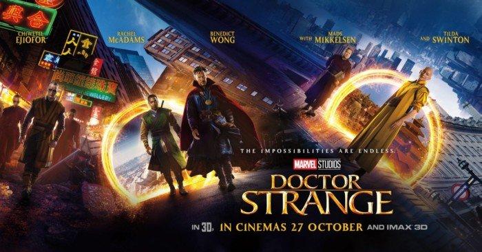 Bannière avec tous les personnages de Doctor Strange