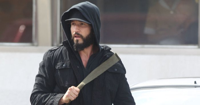 Photo de tournage avec Jon Bernthal (The Punisher) à New-York