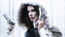 Poster d'Underworld: Blood Wars avec Kate Beckinsale dans la neige