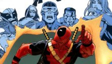 "Couverture ""Deadpool variant"" de X-Men Legacy Vol. 1 233"