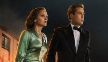 Affiche française d'Alliés avec Brad Pitt et Marion Cotillard