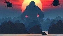 Poster de Kong: Skull Island avec un soleil couchant