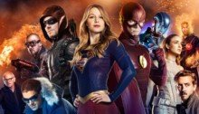 Photo du crossover Arrowverse avec Arrow, Supergirl, Flash et Legends of Tomorrow