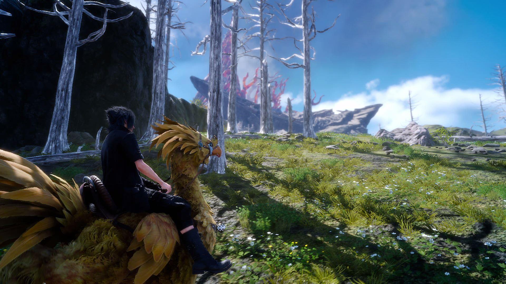 Image de Final Fantasy XV à dos de Chocobo