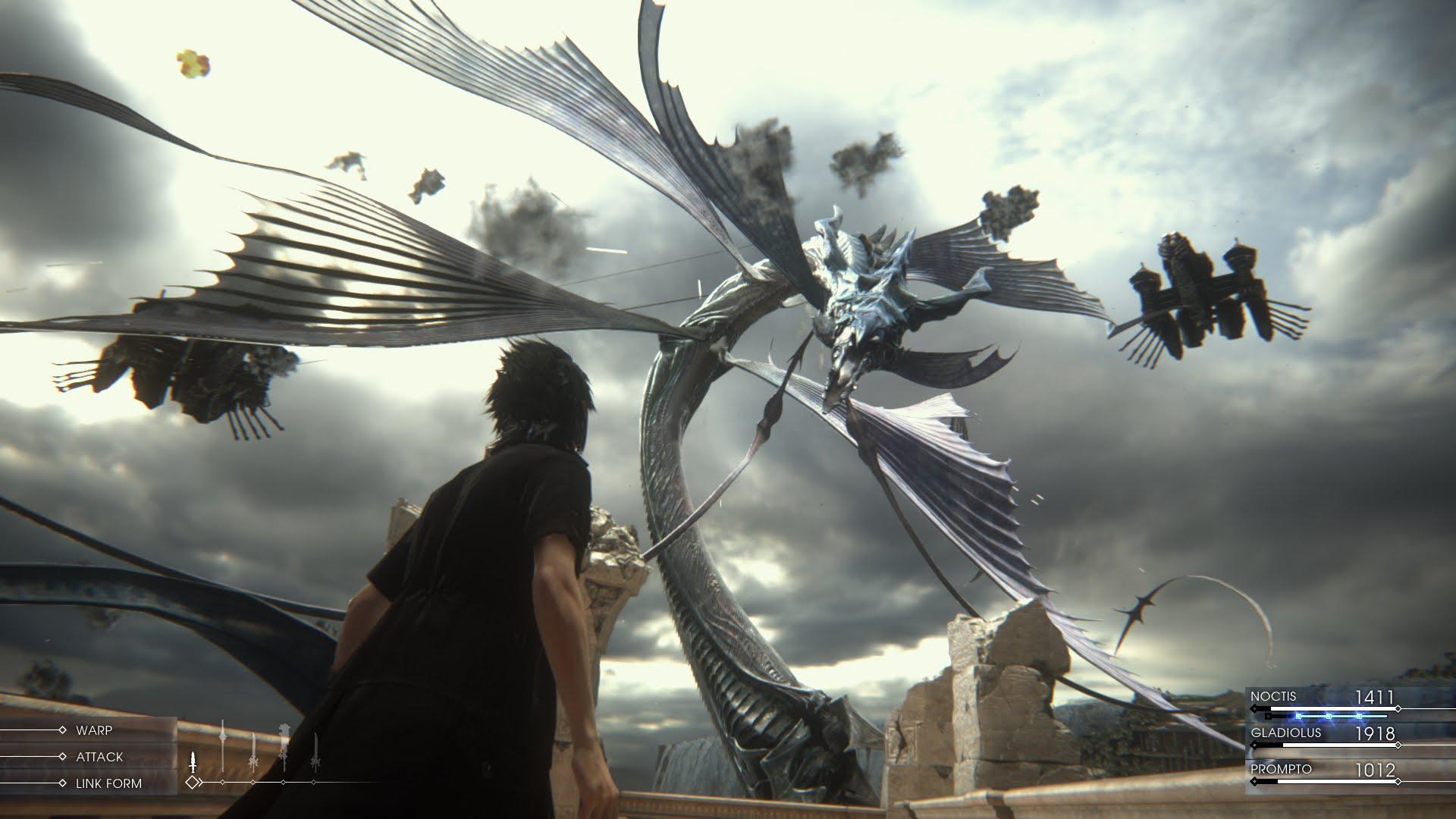 Image de Final Fantasy XV avec le Leviathan